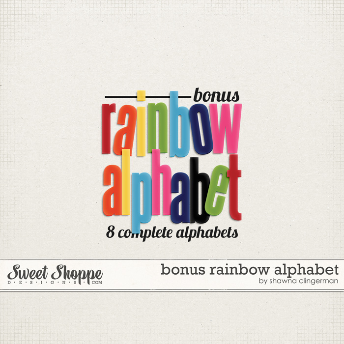 Bonus Rainbow Alphabet by Shawna Clingerman