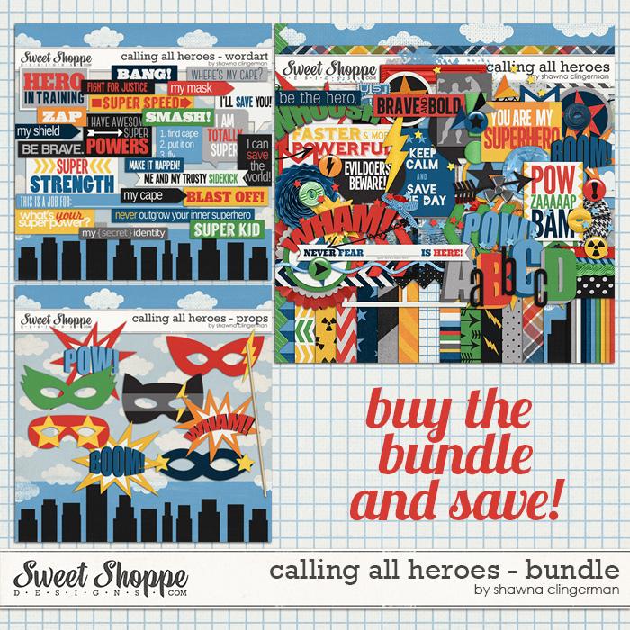 Calling All Heroes Bundle by Shawna Clingerman