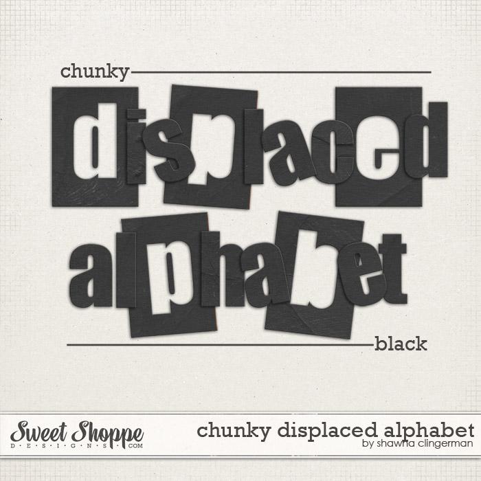 Chunky Displaced Alphabet: Black by Shawna Clingerman
