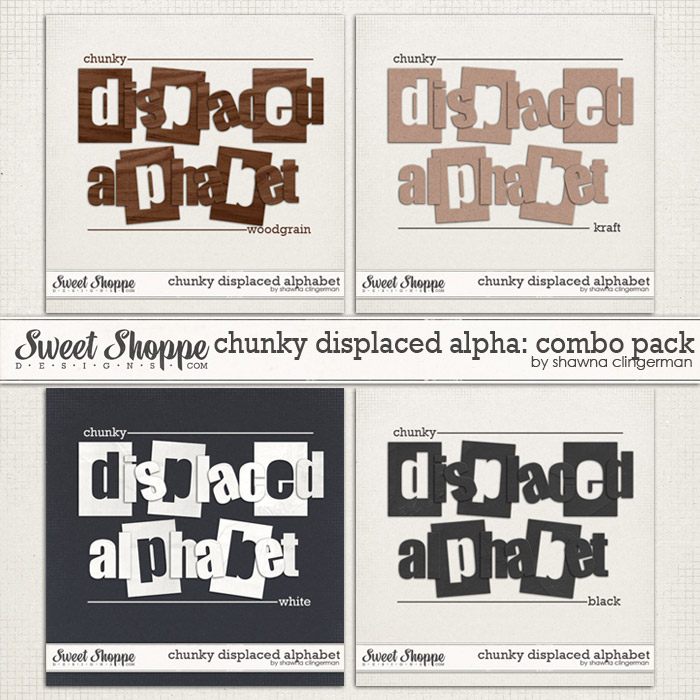Chunky Displaced Alphabet: Combo Pack