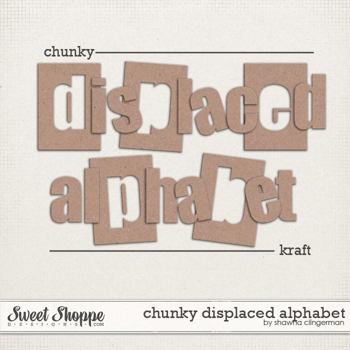 Chunky Displaced Alphabet: Kraft by Shawna Clingerman