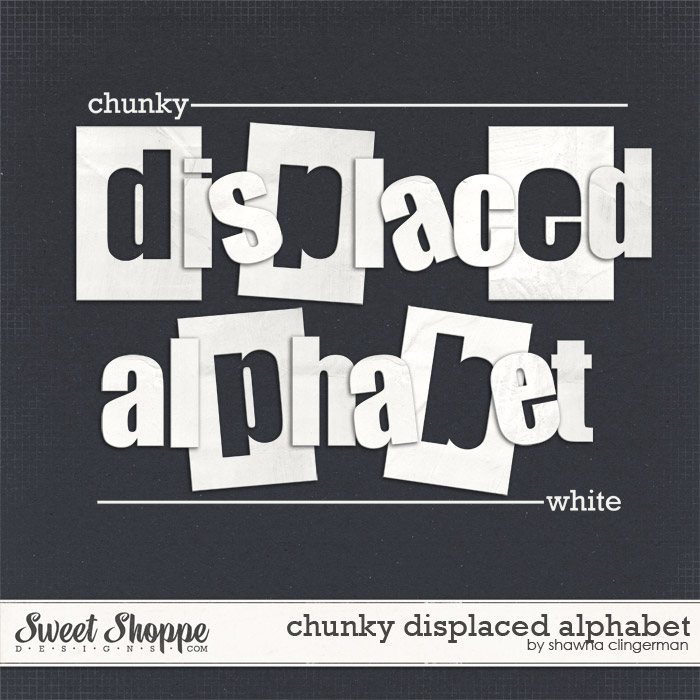 Chunky Displaced Alphabet: White by Shawna Clingerman