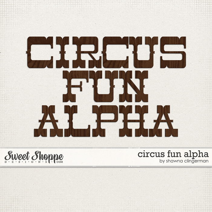 Circus Fun Alpha by Shawna Clingerman