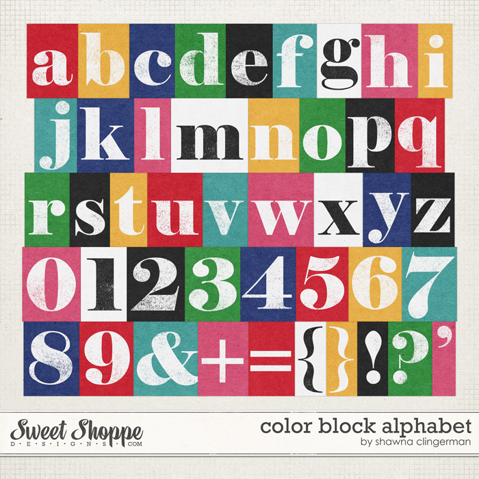 Color Block Alphabet by Shawna Clingerman