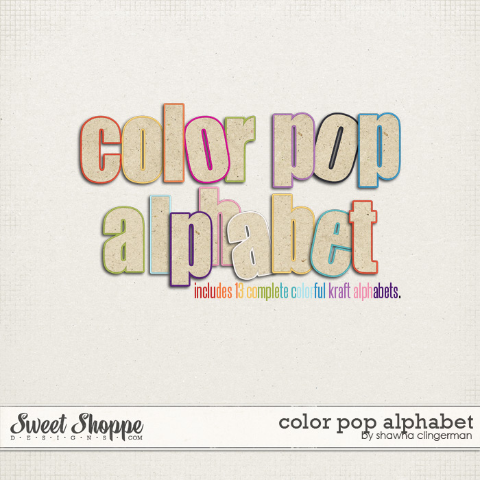 Color Pop Alpha by Shawna Clingerman