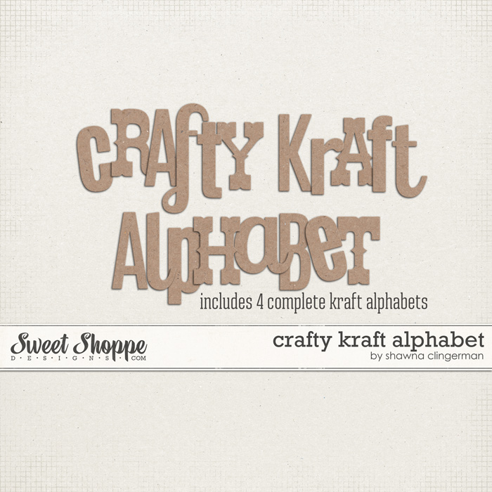 Crafty Kraft Alphabet by Shawna Clingerman