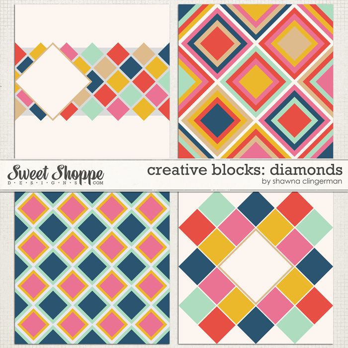 Creative Blocks: Diamonds by Shawna Clingerman