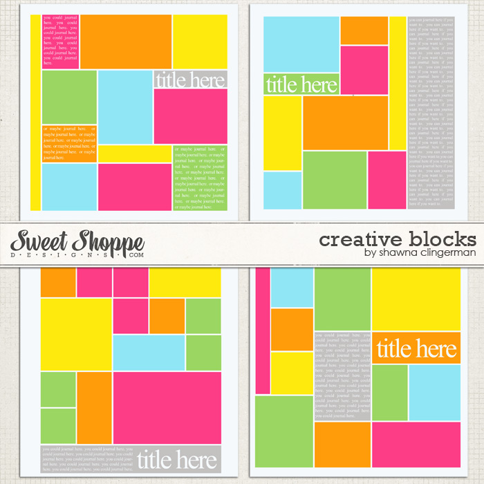 Creative Blocks by Shawna Clingerman