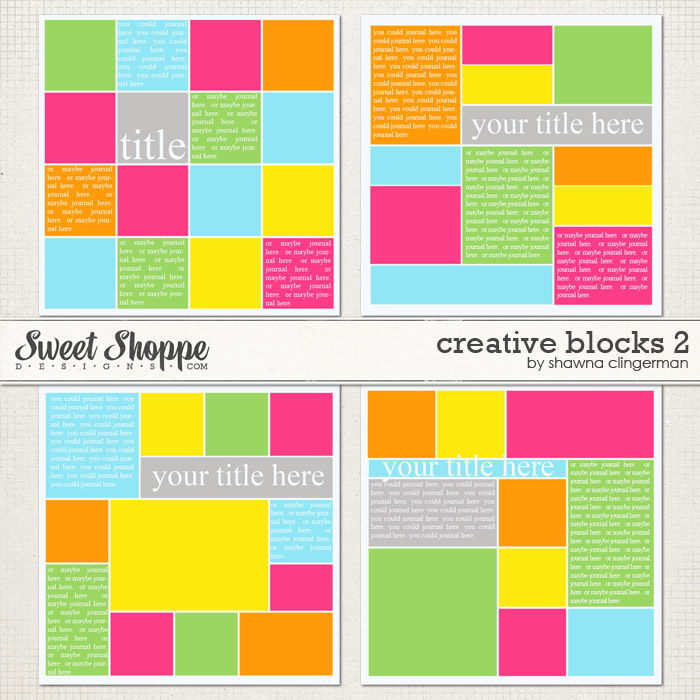 Creative Blocks 2 by Shawna Clingerman