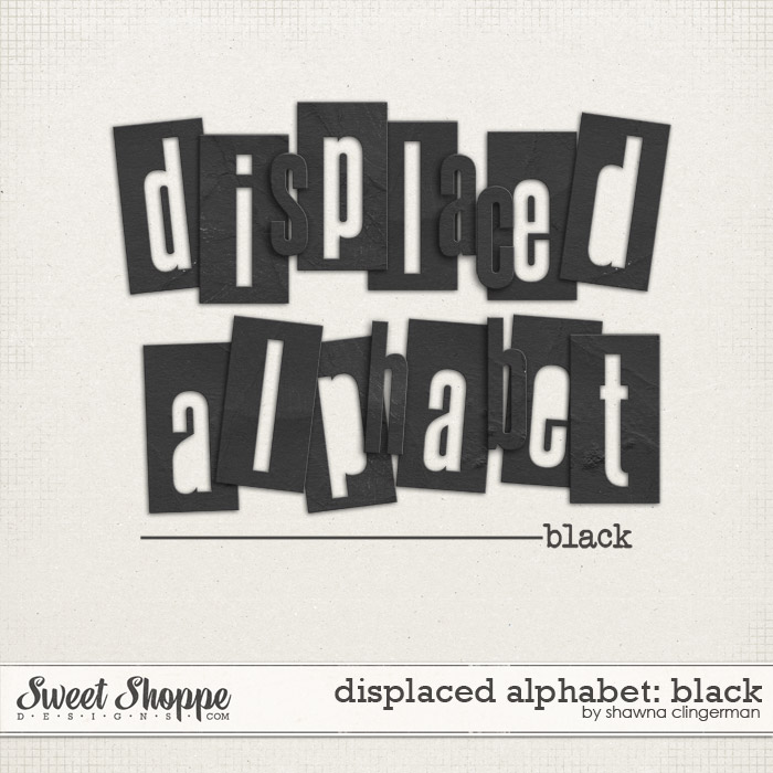 Displaced Alphabet: Black by Shawna Clingerman
