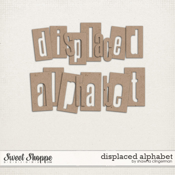 Displaced Alphabet by Shawna Clingerman