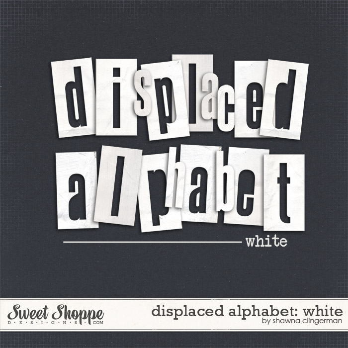 Displaced Alphabet: White by Shawna Clingerman