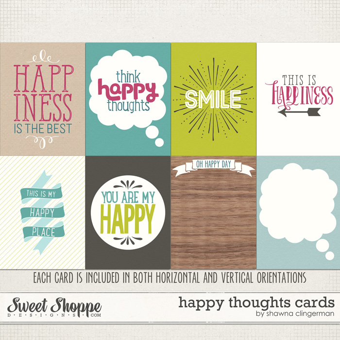 Happy Thoughts Cards by Shawna Clingerman