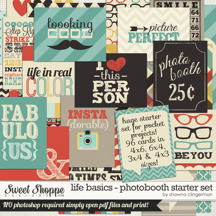 Life Basics - Photobooth Starter Set by Shawna Clingerman