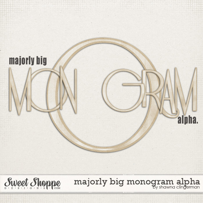 Majorly Big Monogram Alpha by Shawna Clingerman