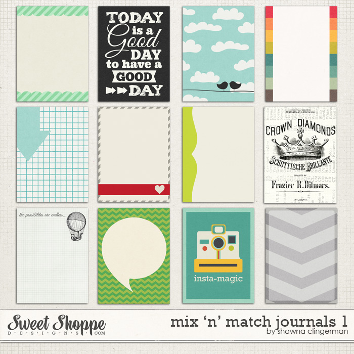 Mix 'n' Match Journals 1 by Shawna Clingerman
