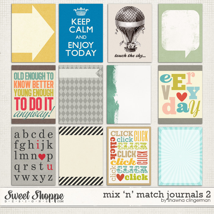 Mix 'n' Match Journals 2 by Shawna Clingerman