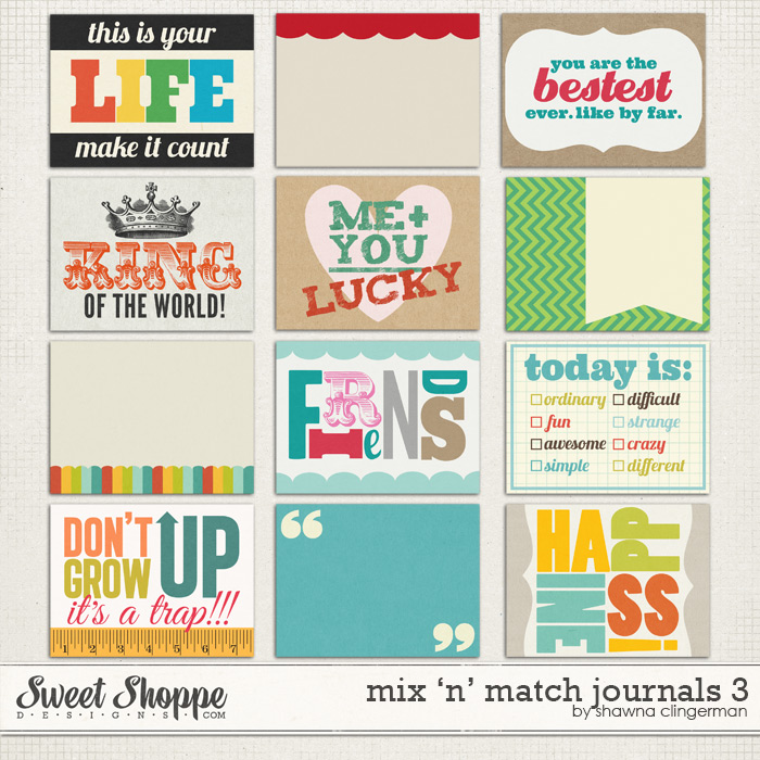 Mix 'n' Match Journals 3 by Shawna Clingerman