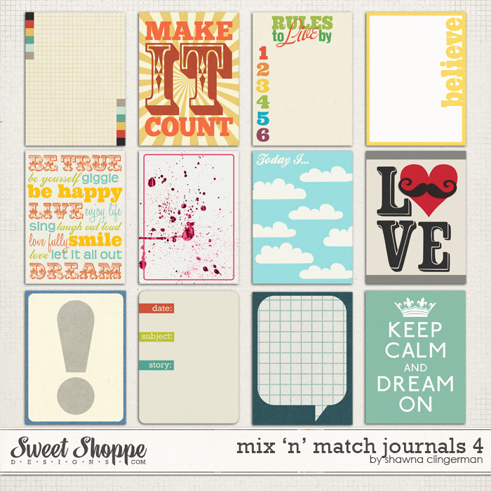 Mix 'n' Match Journals 4 by Shawna Clingerman