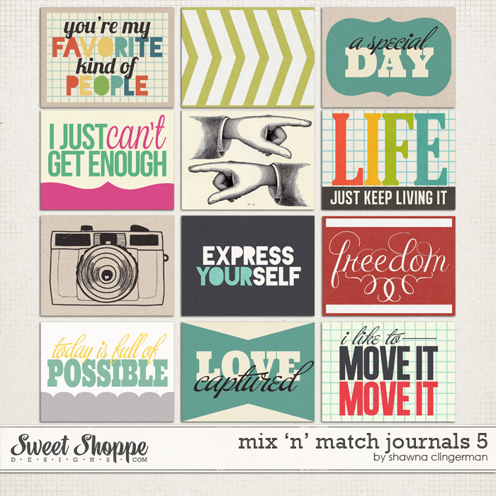 Mix 'n' Match Journals 5 by Shawna Clingerman