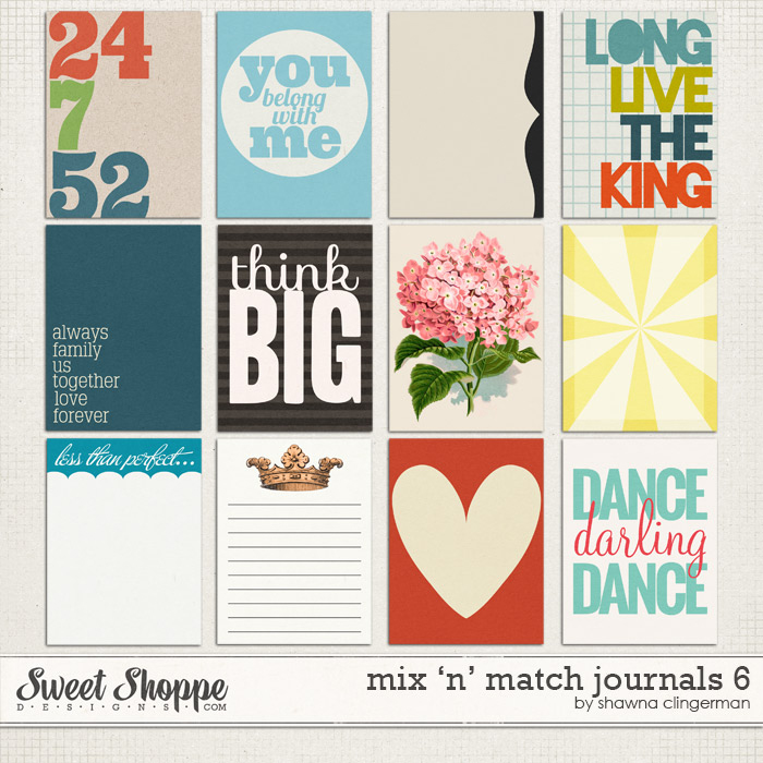 Mix 'n' Match Journals 6 by Shawna Clingerman