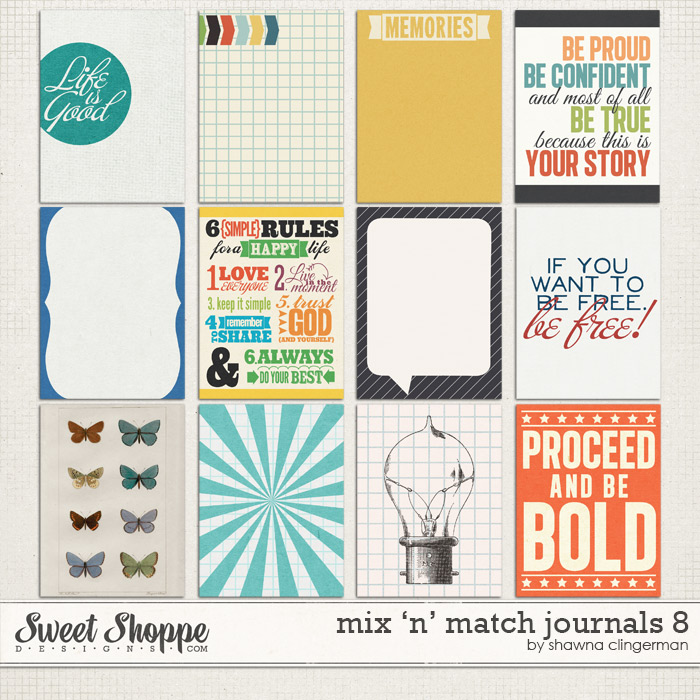 Mix 'n' Match Journals 8 by Shawna Clingerman