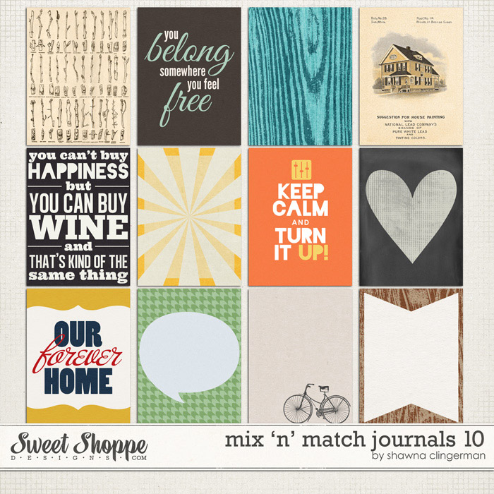 Mix 'n' Match Journals 10 by Shawna Clingerman