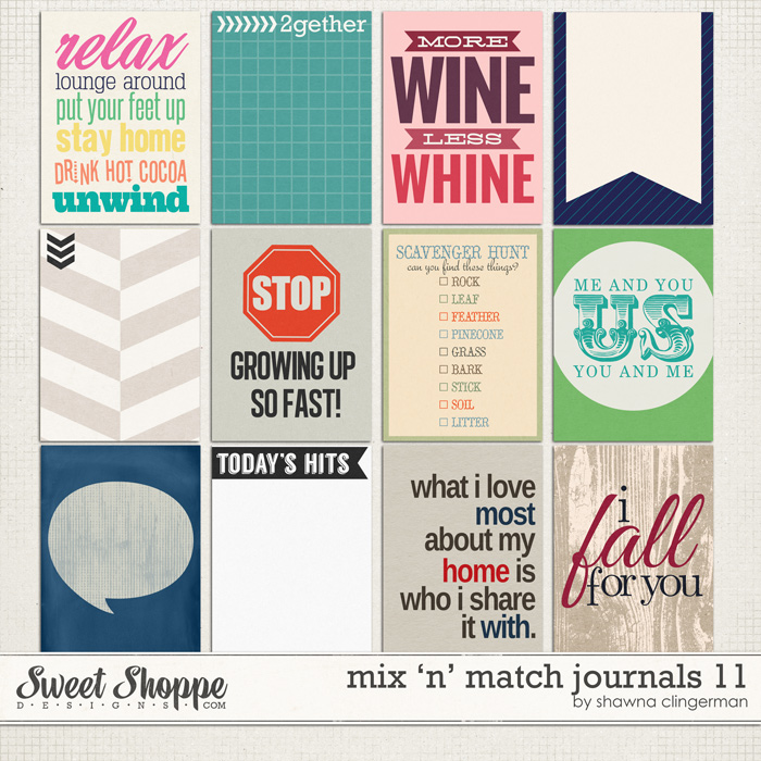 Mix 'n' Match Journals 11 by Shawna Clingerman