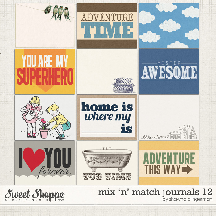 Mix 'n' Match Journals 12 by Shawna Clingerman