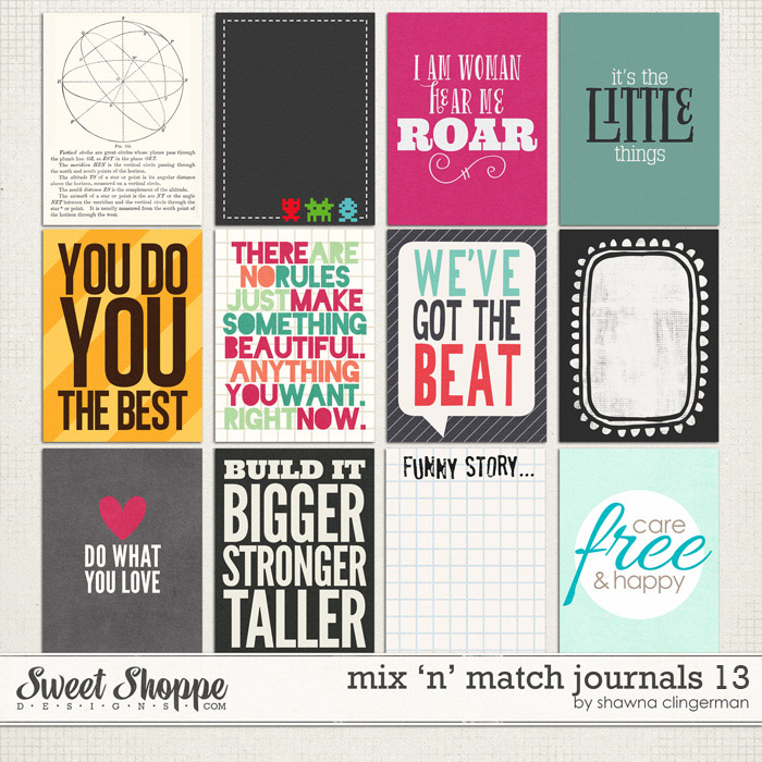 Mix 'n' Match Journals 13 by Shawna Clingerman