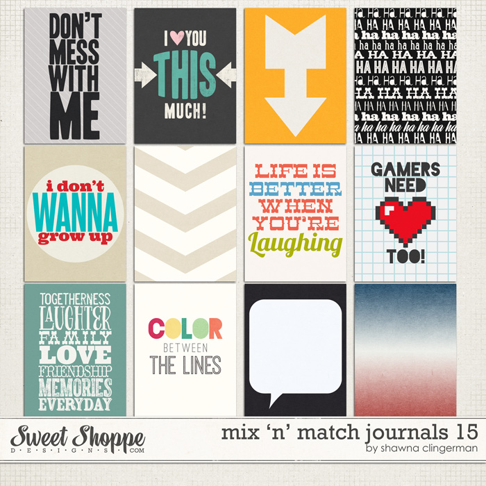 Mix 'n' Match Journals 15 by Shawna Clingerman