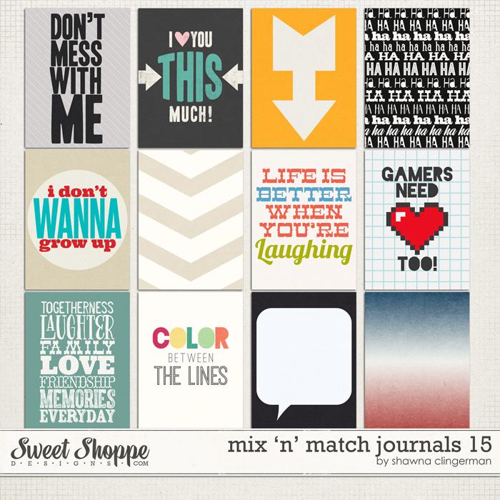 Mix 'n' Match Journals 15 by Shawna Clingerman