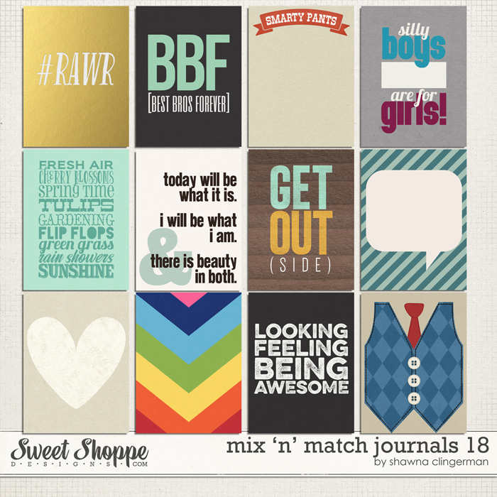 Mix 'n' Match Journals 18 by Shawna Clingerman
