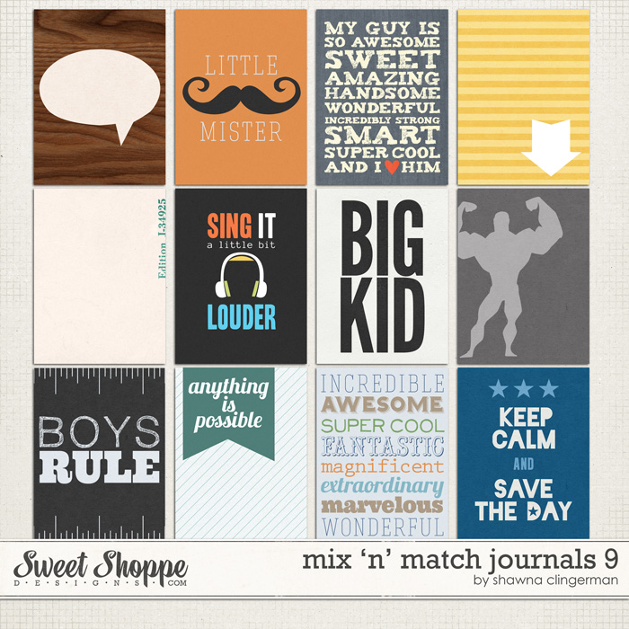 Mix 'n' Match Journals 9 by Shawna Clingerman