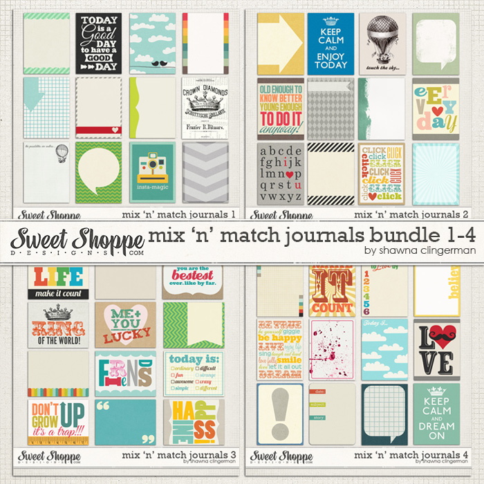Mix 'n' Match Journals Bundle 1-4 by Shawna Clingerman