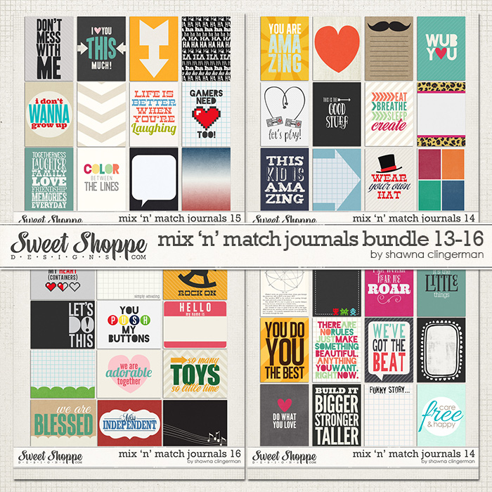 Mix 'n' Match Journals Bundle 13-16 by Shawna Clingerman