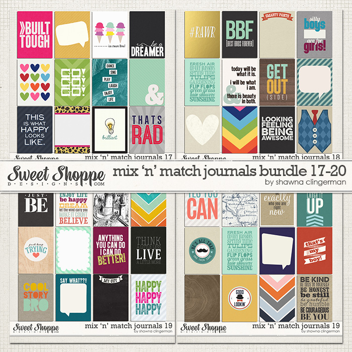 Mix 'n' Match Journals Bundle 17-20 by Shawna Clingerman