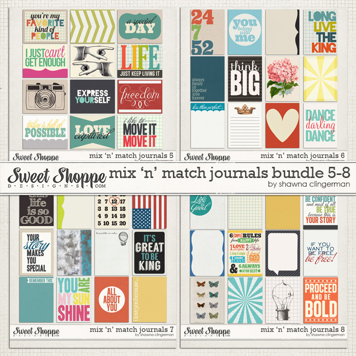 Mix 'n' Match Journals Bundle 5-8 by Shawna Clingerman