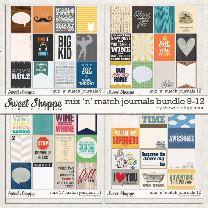 Mix 'n' Match Journals Bundle 9-12 by Shawna Clingerman