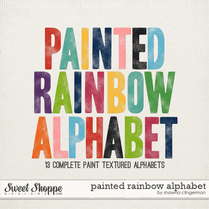 Painted Rainbow Alphabet by Shawna Clingerman