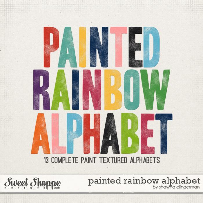 Painted Rainbow Alphabet by Shawna Clingerman