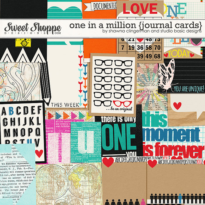One in a Million {3x4 Cards} by Shawna Clingerman and Studio Basic