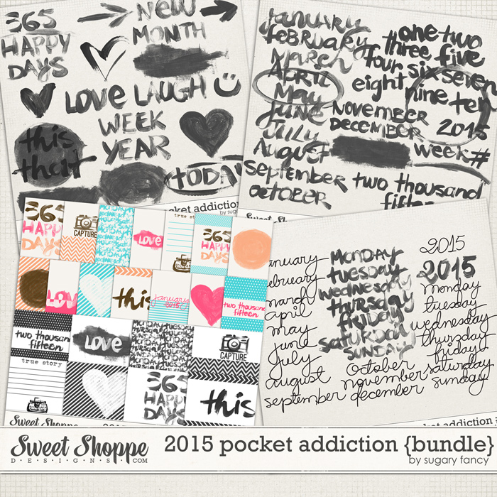 2015 Pocket Addiction {Bundle} by Sugary Fancy
