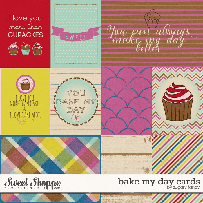 Bake my Day Cards by Sugary Fancy
