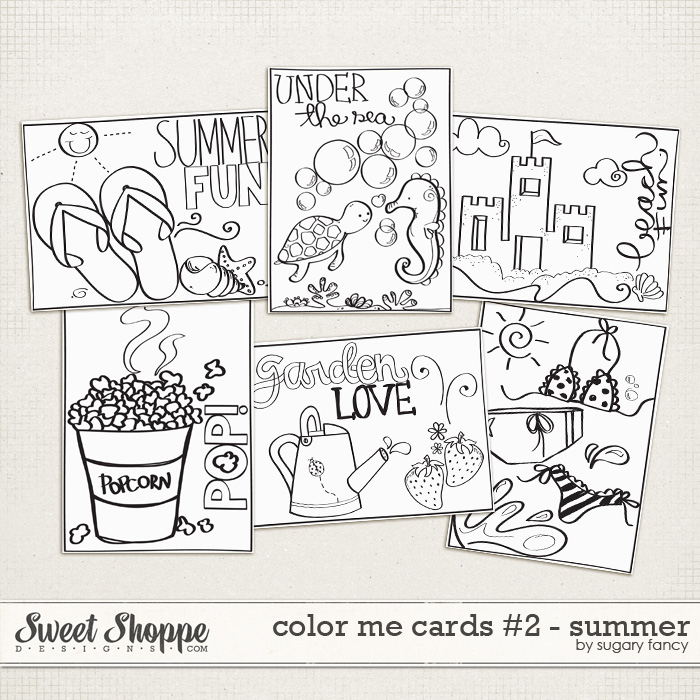 Color Me Cards #2 - Summer by Sugary Fancy