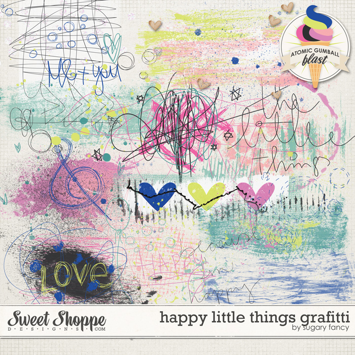 Happy Little Things Grafitti by Sugary Fancy