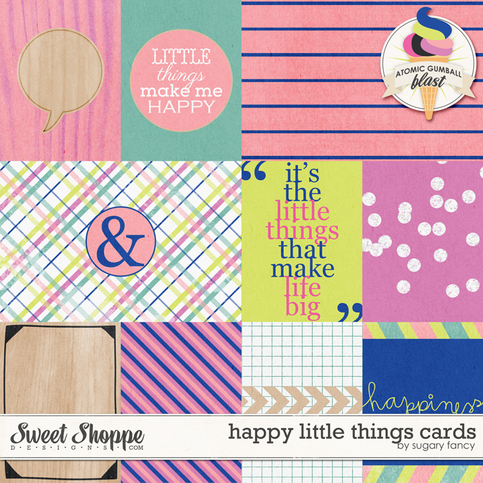 Happy Little Things Cards by Sugary Fancy