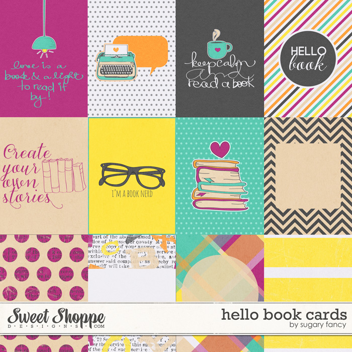 Hello Book Cards by Sugary Fancy