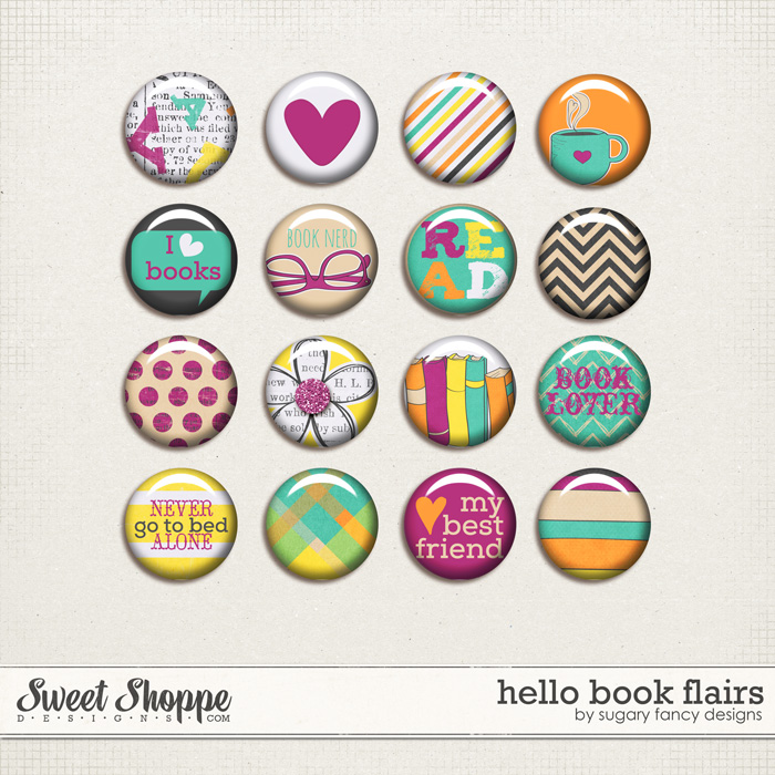 Hello Book Flairs by Sugary Fancy