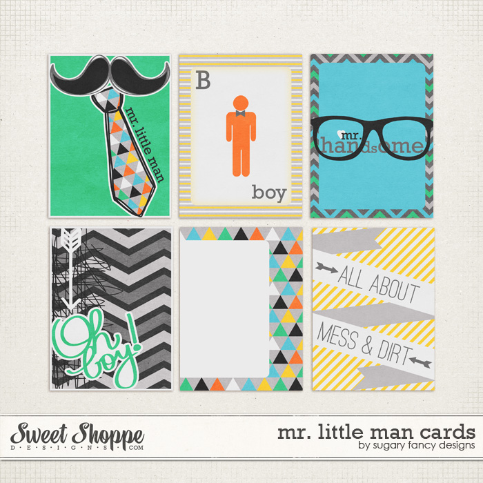 Mr. Little Man Cards by Sugary Fancy